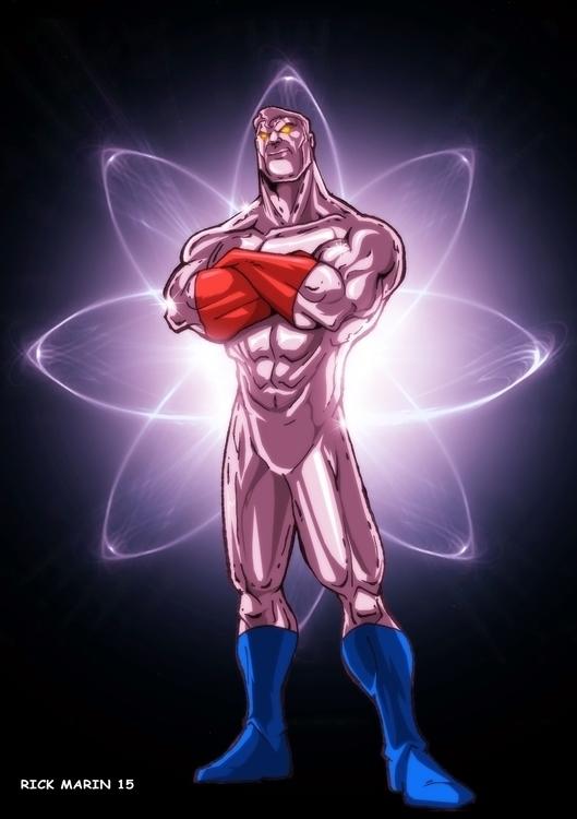 Captain Atom - illustration, animation - rickmarin | ello