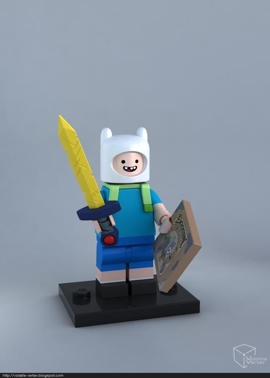 adventure time lego minifigure - volatilevertex | ello