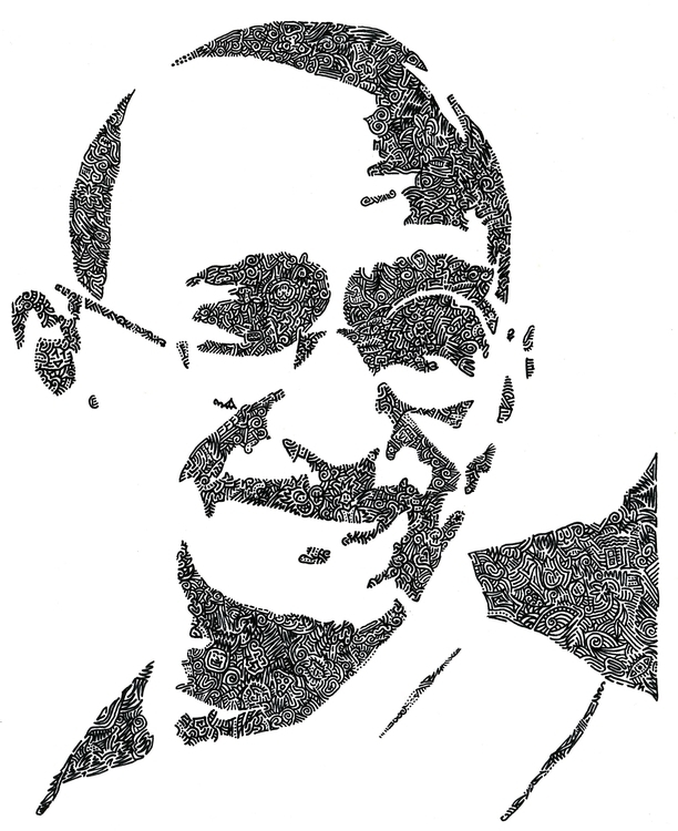 Intricacies Mahatma Gandhi ongo - vanzandesign | ello