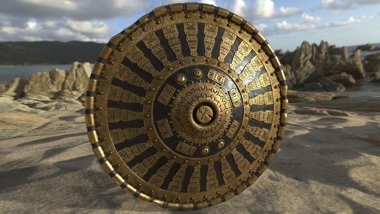Shield Ogoun - 3d, weapon, zbrush - eder-9883   ello