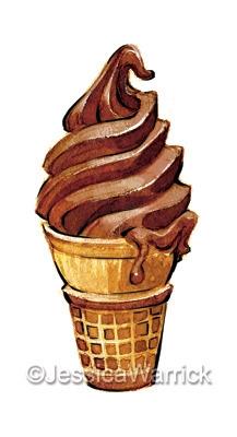 Ice Cream - icecream, food, foodillustration - jessicawarrick | ello
