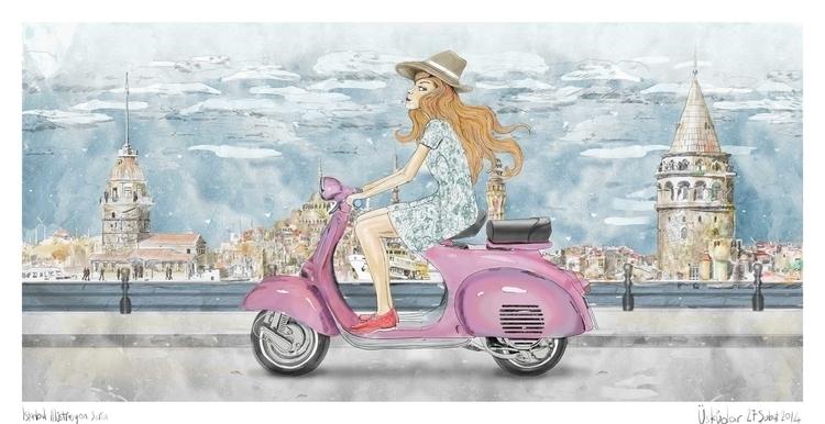 Istanbul Tour - illustration, fashion - seren-1097 | ello