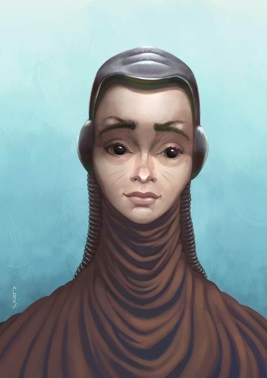 Milky - illustration, sciencefiction - alecs-1191 | ello