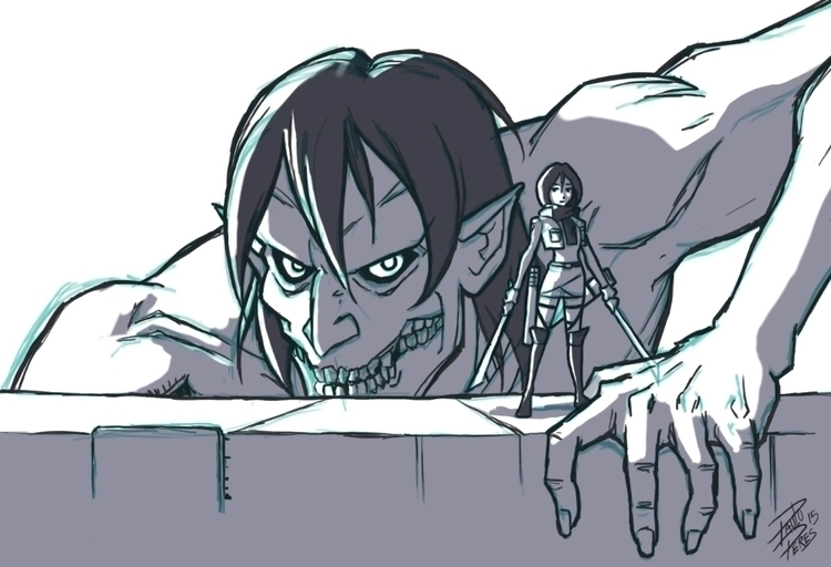 Attack Titan - drawing, attackontitan - pauloperes-1547 | ello
