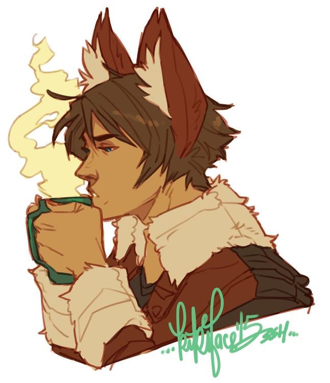 Coffee Kitsune - commission - kikiface | ello