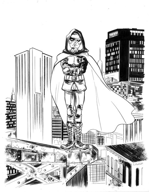 Robin. ink bristol - dccomics, comicart - sooleedraws | ello