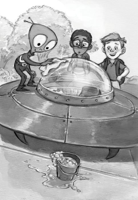 Alien school - blackandwhite, alien - jessicawarrick | ello