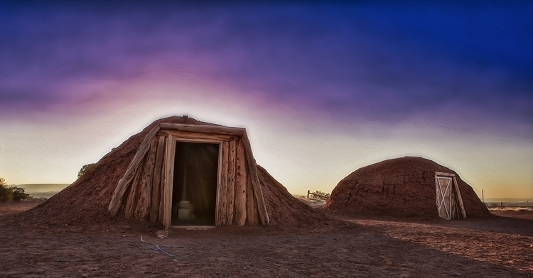 navajo huts - photography, photoshop - pierocefaloni | ello