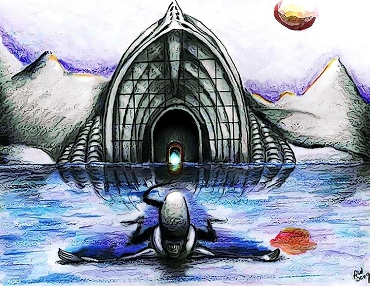 Alien Landscape 3 - illustration - wilkinso-5391 | ello