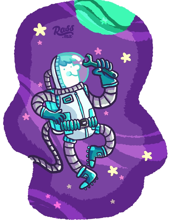space - characterdesign, children'sillustration - rossmarisin | ello