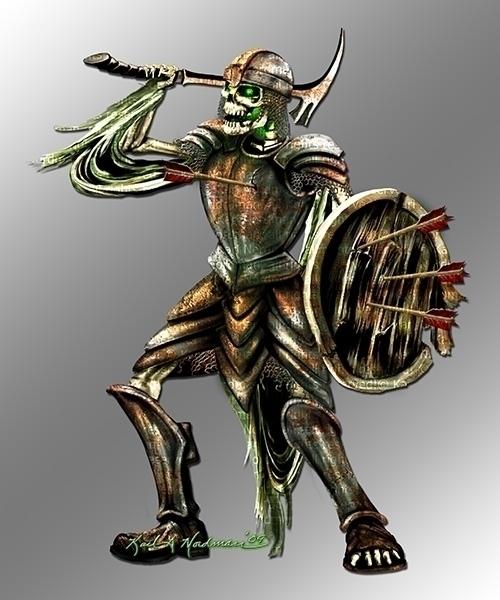 Skeleton Warrior - thelycanknight | ello