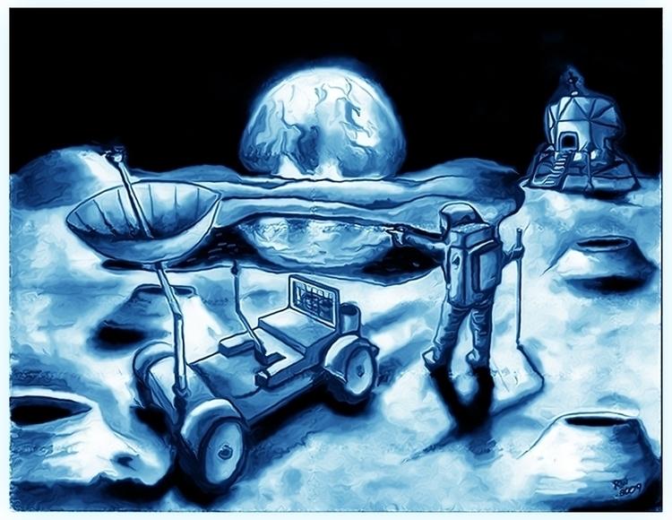 Lunar Landscape - illustration - wilkinso-5391 | ello