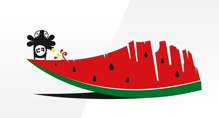 ArbuzikoOo - fly, watermelon, vectorillustration - biko-1282 | ello