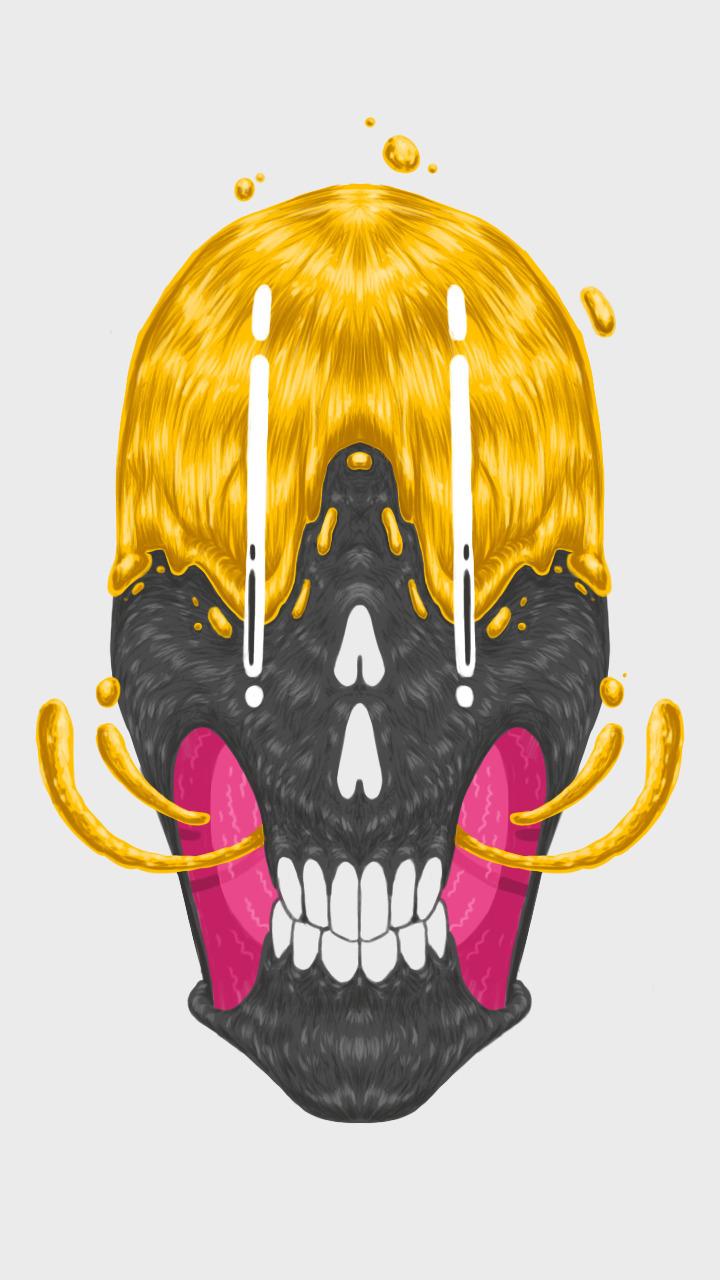 illustration, skull, smile, digitalillustration - andrebaynes-1248 | ello