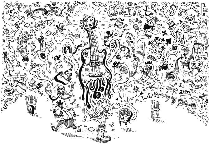Rubber Blues - illustration, typography - dmitrybulanov | ello