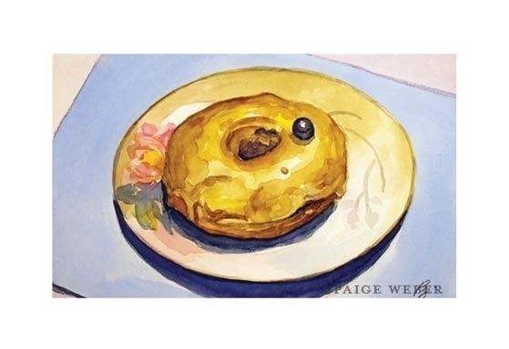 16 / Barista Watercolor - donut - paige-2875 | ello