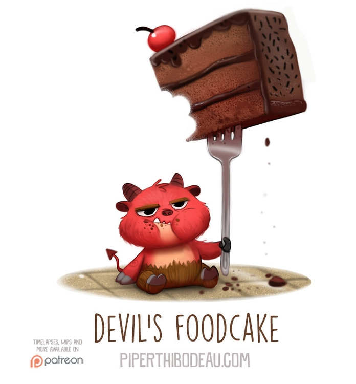 Daily Paint 1558. Foodcake - piperthibodeau | ello