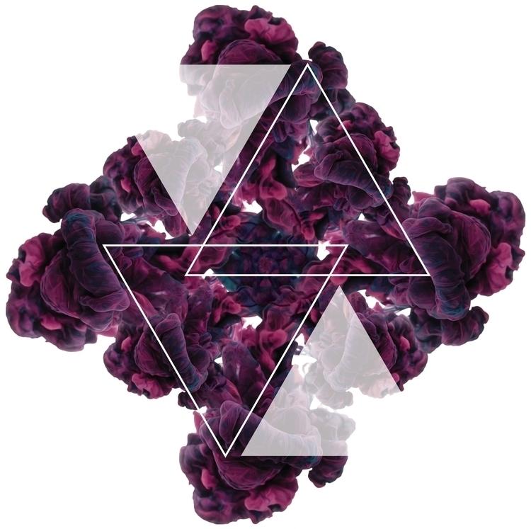 Tri - smoke, ink, abstract, geometric - cheyenneskyy | ello
