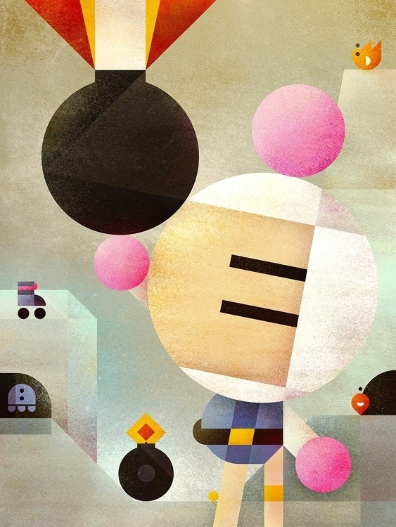 Bomberman remix - videogames, gaming - squizzato | ello