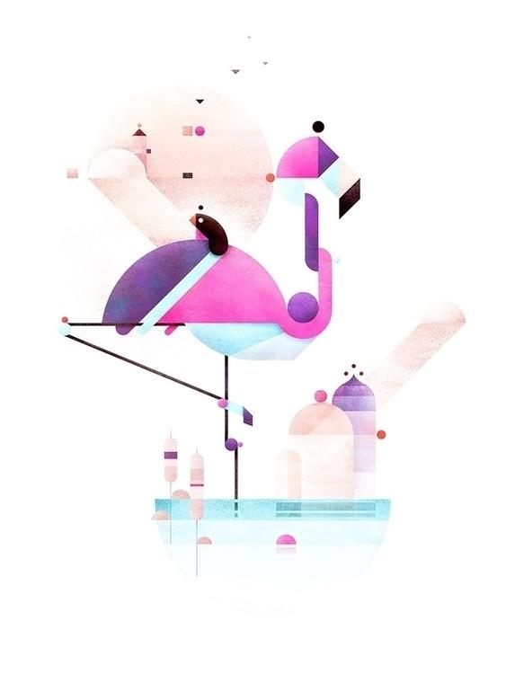 Placido Flamingo - minimal, abstract - squizzato | ello