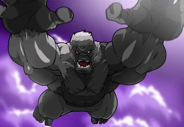 Gorilla Attack - characterdesign - rickmarin | ello