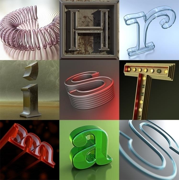 Christmas Letters - 3dart, cgi, letter - scottwulf | ello