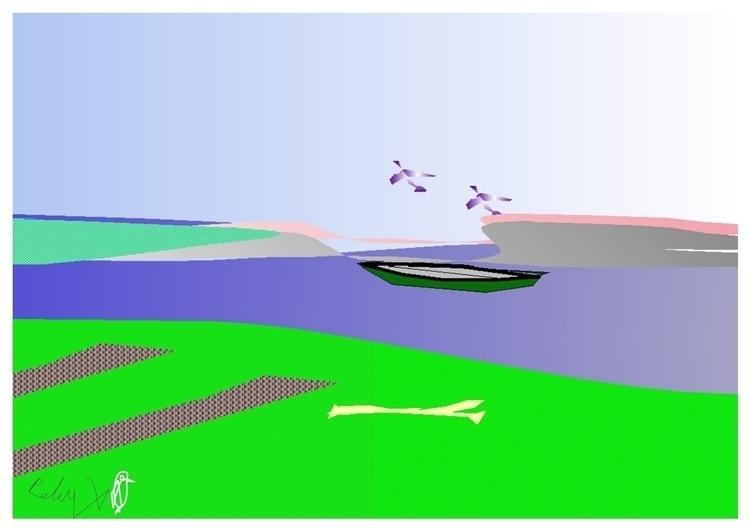 Canoe - illustration - danielspeterv | ello