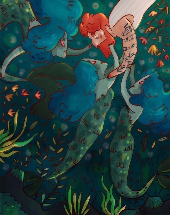 Mermaids - illustration, children'sillustration - imnot12 | ello