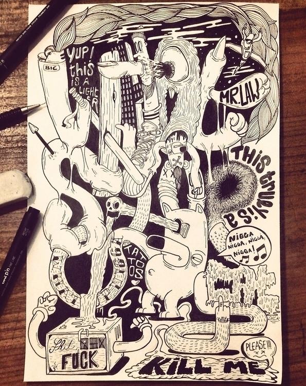 BORED - drawing, illustration, typography - monsieurlaw | ello