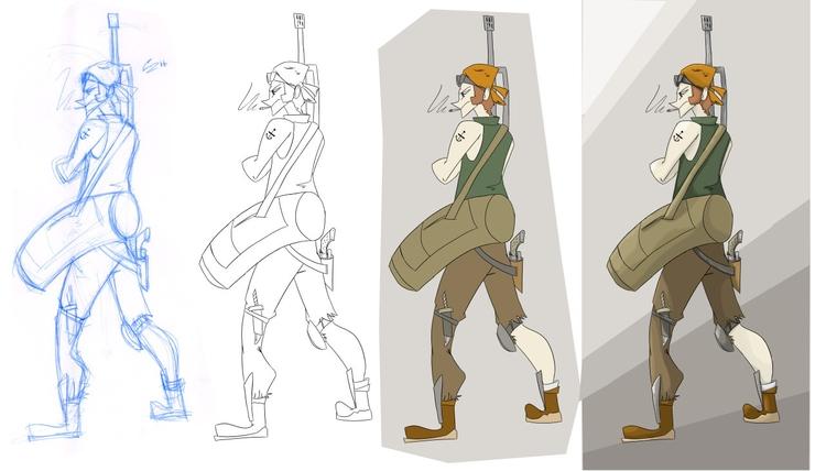 Character Design Process sketch - zitoisneato | ello