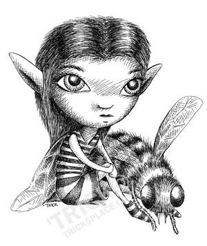 Bee Fairy - beefairy, fairy, fae - trick-6303   ello