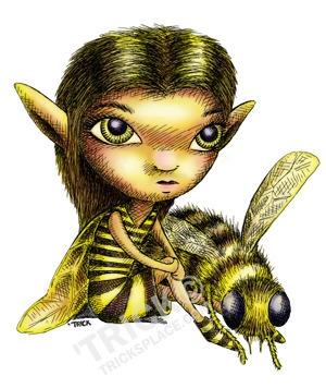 Bee Fairy - bee, beefairy, fairy - trick-6303 | ello
