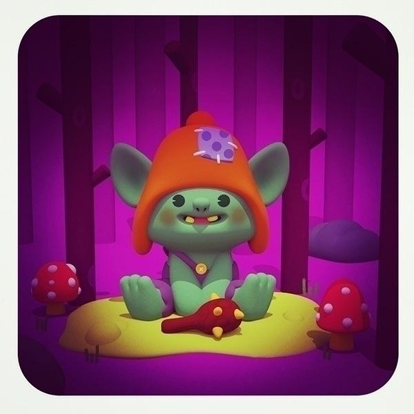 Swamp baby troll - halloween, illustration - cecymeade | ello