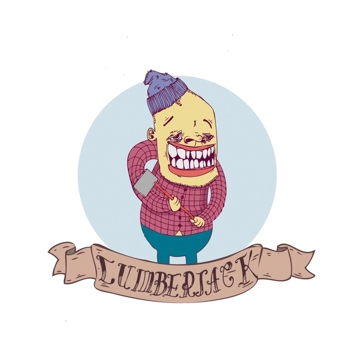 LUMBERJACK - illustration, retarded - monsieurlaw | ello