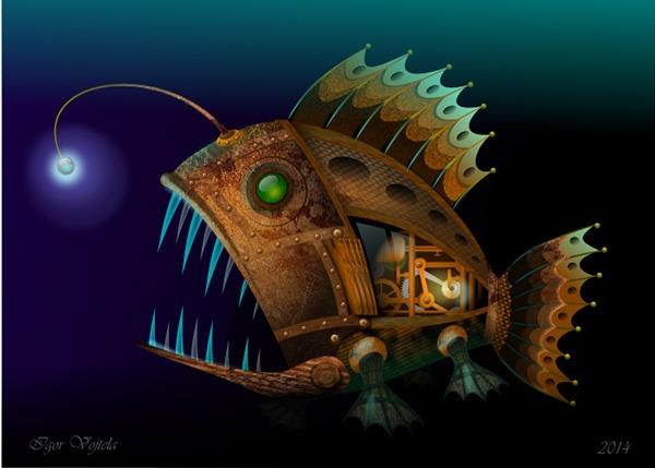 Mechanical Lightfish - vectorillustration - igor01 | ello