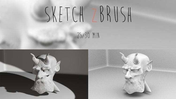 Quick sculpt (25/30 min) - ZBru - maximebugman | ello