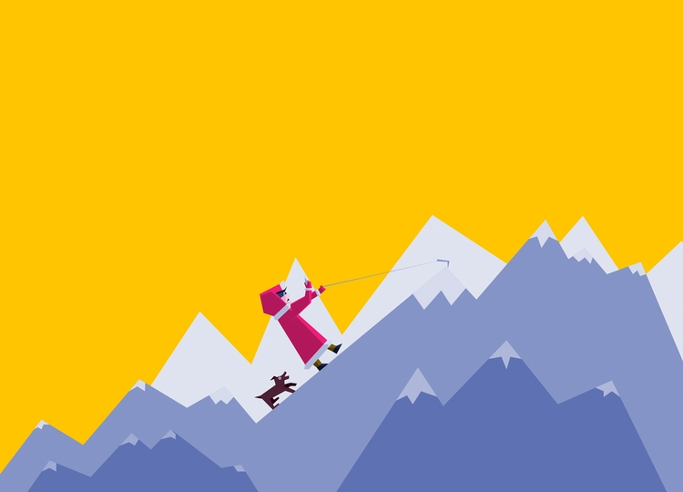 illustration, mountains, colorful - pchelisimus | ello