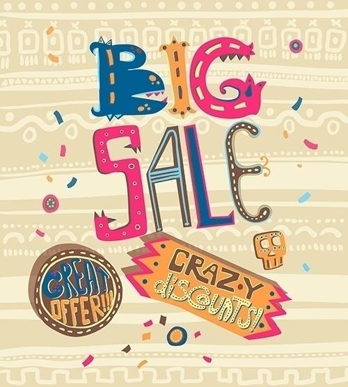 Lettering Big sale - letterig, calligraphy - dinkoobraz | ello