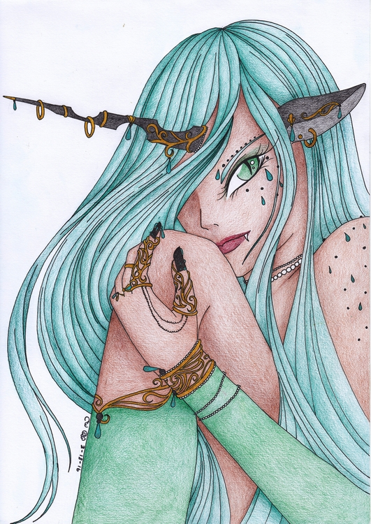Queen Chrysalis - illustration, drawing - crescentwingstudio | ello