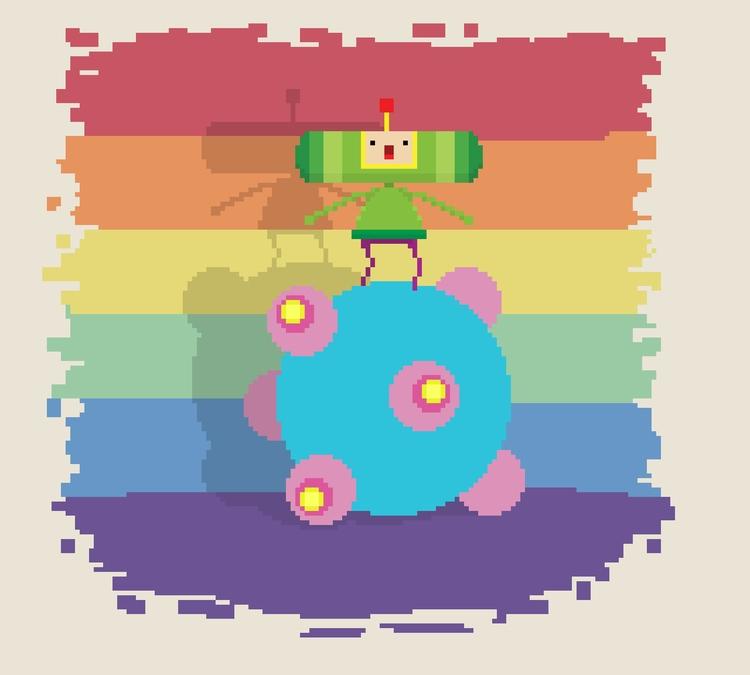 Katamari Damacy - pixelart, gamedev - planckpixels | ello