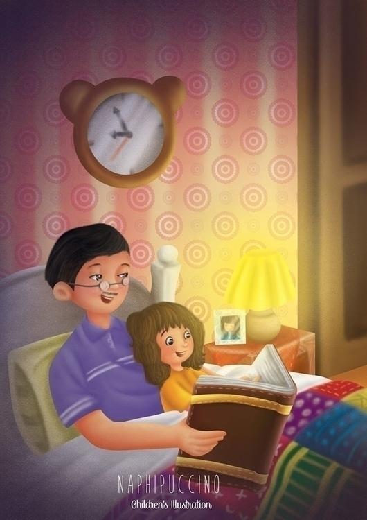Bedtime - illustration, children'sillustration - naphipuccino | ello