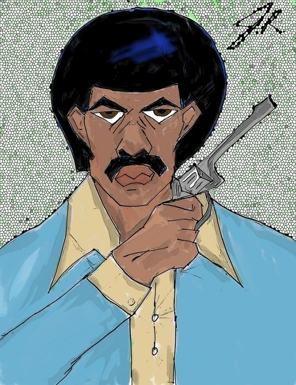 Black Dynamite - digitalart, drawing - janoryusaru | ello
