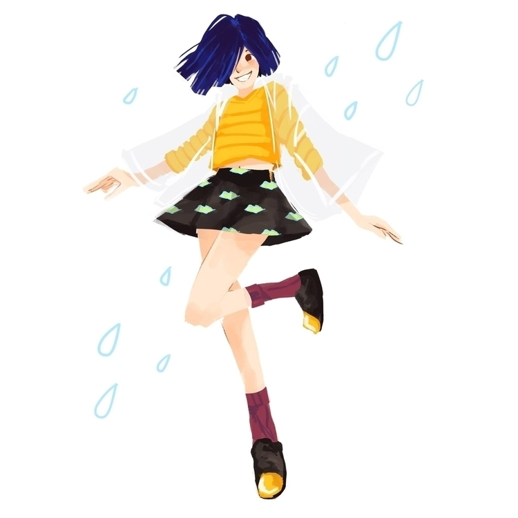 Singing Rain - illustration, characterdesign - rei410 | ello