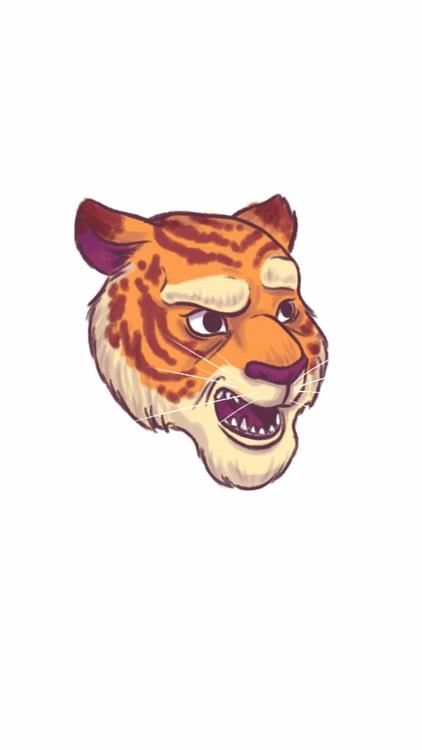 Quick doodle - tiger, face - thisjustine | ello
