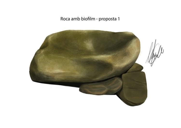 Stone biofilm. Scientific illus - marcmontenegro | ello