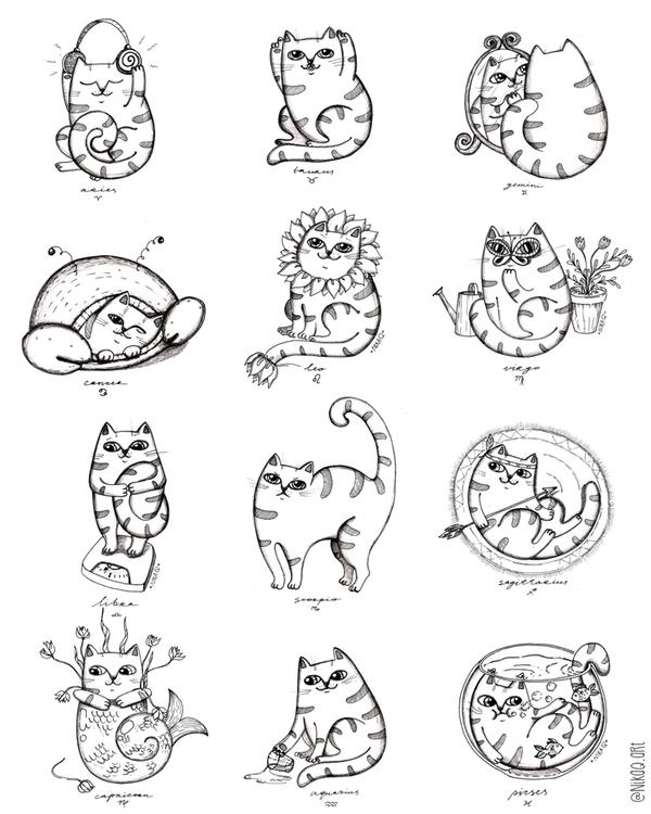 Zodiacats - nikaq | ello