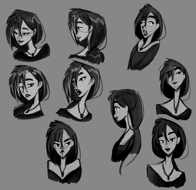 Facial expressions character Be - fishfranqz | ello