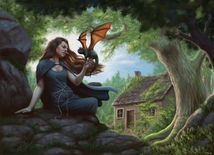 Familiar - witch, familiar, woman - tobba | ello