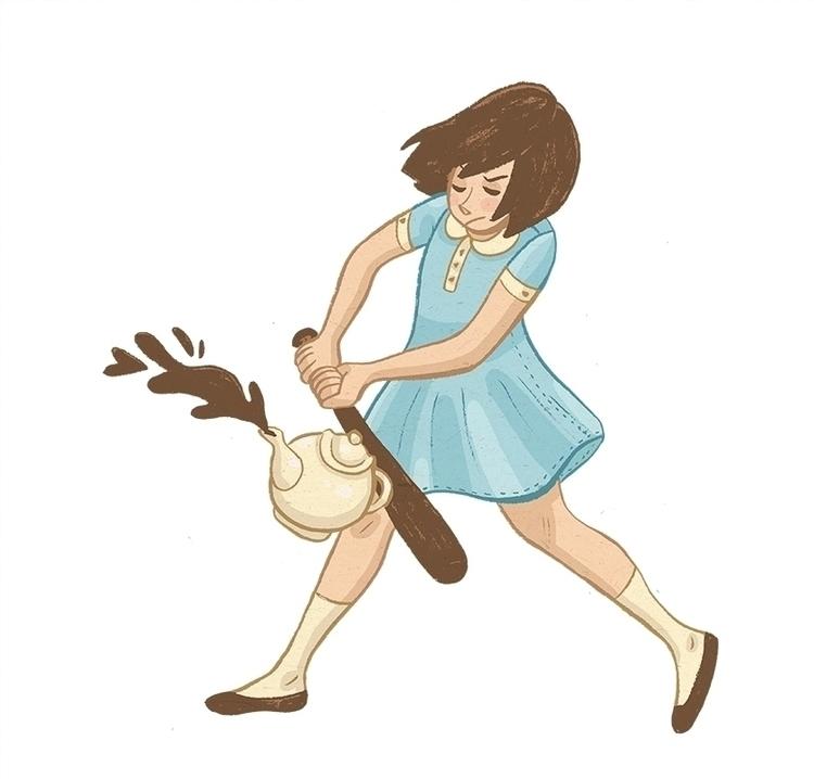 Tea Ball - illustration, girls - kayke | ello