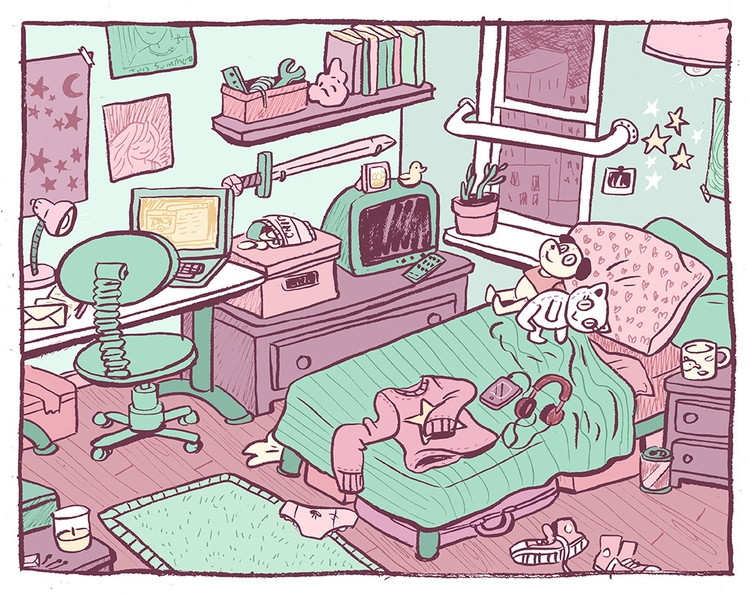 Sweet Room - illustration, cartooning - kayke | ello